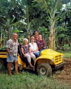 Richard Ha and family at Hamakua Springs Country Farms. From left: Richard Ha, his mother Florence Ha, Richard's wife June Ha, son-in-law Kimo Pa and daughter Tracy Pa.
