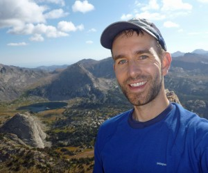 Brian Shiro in the Wind River Range, Wyoming during a National Outdoor Leadership School expedition. Photo courtesy B. Shiro.