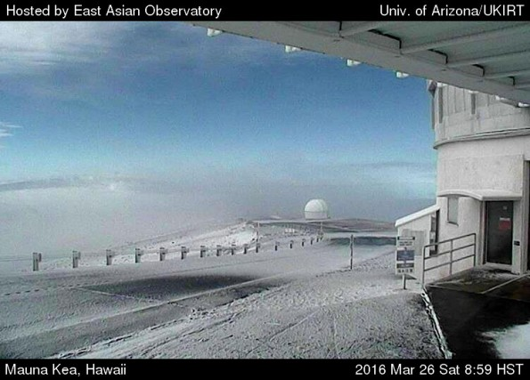 Mauna Kea summit Saturday, March 26, 2016.