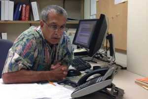 The May 11, 2016 Telephone Town Hall meeting hosted by Rep. Tulsi Gabbard featured expert guests Chief Darryl Oliveira from Hawaiʻi County Civil Defense (above) and State Epidemiologist Dr. Sarah Park.