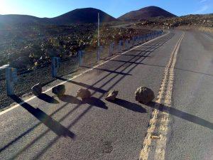 Rocks on Mauna Kea Access Road, Monday, May 16, 2016.