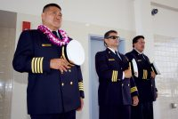 Blessing ceremony during the dedication of the new Hilo International Airport Aircraft Rescue and Firefighting Station Friday, July 29, 2016. Photography by Baron Sekiya   Hawaii 24/7