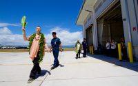 Kahu Kaliko Trapp and Kahu Isaia Kealoha, of St. Joseph Catholic Church, blessing the new Hilo International Airport Aircraft Rescue and Firefighting Station Friday, July 29, 2016. Photography by Baron Sekiya   Hawaii 24/7