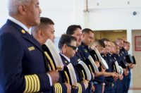 Blessing during the dedication ceremony of the new Hilo International Airport Aircraft Rescue and Firefighting Station Friday, July 29, 2016. Photography by Baron Sekiya   Hawaii 24/7