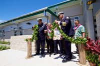 The untying of the maile lei to formally open the new Hilo International Airport Aircraft Rescue and Firefighting Station. Photography by Baron Sekiya   Hawaii 24/7