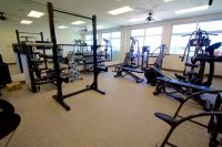 The exercise room at the Hilo International Airport Aircraft Rescue and Firefighting Station. Photography by Baron Sekiya   Hawaii 24/7