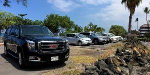 Laaloa Beach Park parking lot. Hawaii 24/7 File Photo.