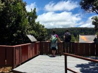 A couple enjoys the newly reopened overlook. Photo courtesy of National Park Service