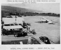 Kona Airport July 10, 1949. Archive Photo.