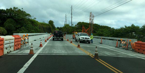 Umauma Bridge work. Hawaii 24/7 File Photo.
