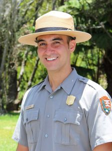 Park Ranger Noah Gomes. Photo courtesy NPS