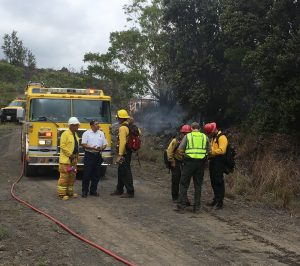 National Park Service and County fire crews at fire Thursday (Aug 31). NPS Photo