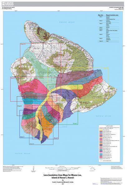 Lava Inundation Zone Map for Mauna Loa