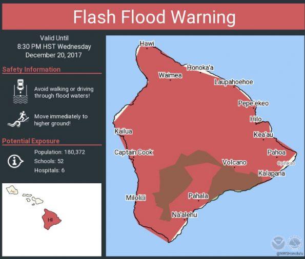 Flash Flood Warning for Hawaii Island