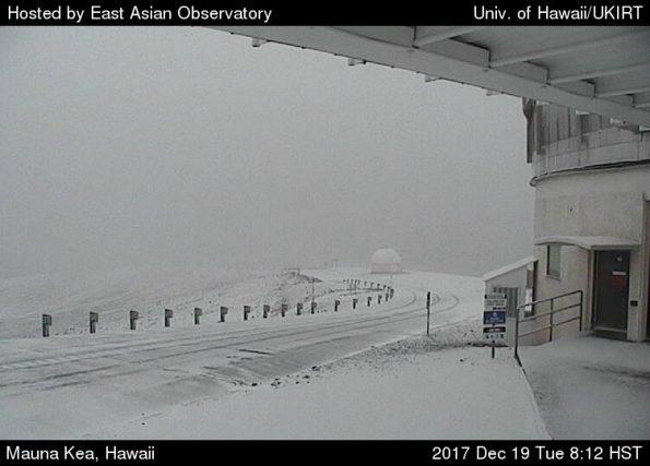 Mauna Kea summit area Tuesday (Dec 19).