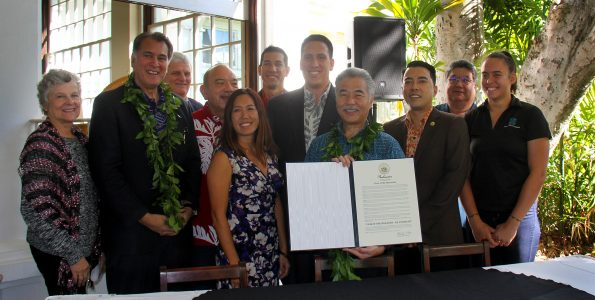 Gov. David Ige proclaimed 2018 as the Year of the Hawaiian. Photo via the office of the Governor.