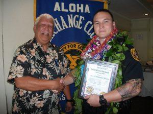 James Sanborn (L) Officer Chris Jelsma (R)