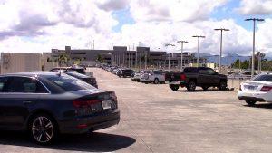 Daniel K. Inouye International Airport in Honolulu Overseas Parking Garage Lot D. Hawaii 24/7 File Photo.