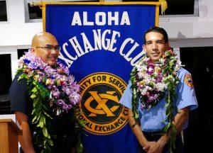 Officer Conrad Bidal (L) Firefighter/EMT Kainoa Willey (R)