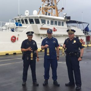 (L-R) Officer Paul Mangus, Lt. Kenneth Franklin, Sergeant Jason Grouns
