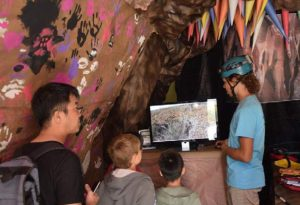 Youth tour a mock cave at U.S. Army Garrison-Pōhakuloa Training Area's annual Earth Day fest. Photo courtesy of PTA