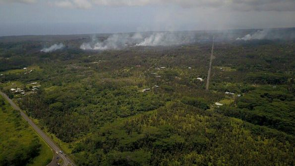 Vent sites in Leilani Estates subdivision on Saturday, May 5, 2018. The area has been evacuated due to fumes, fire and lava hazards. Photos by Steven Royston | Special to Hawaii 24/7