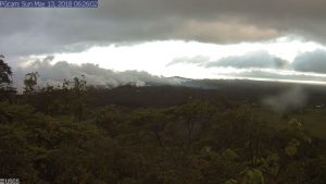 This image is from a temporary research camera positioned near Kapoho looking northwest. Webcam image taken Sunday, May 13, 2018 courtesy of U.S. Geological Survey