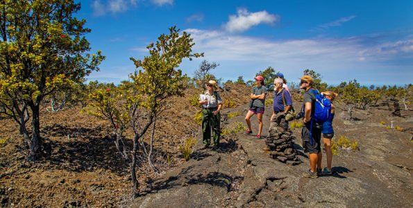 Ranger Wendy leads the Nature and Culture hike-t