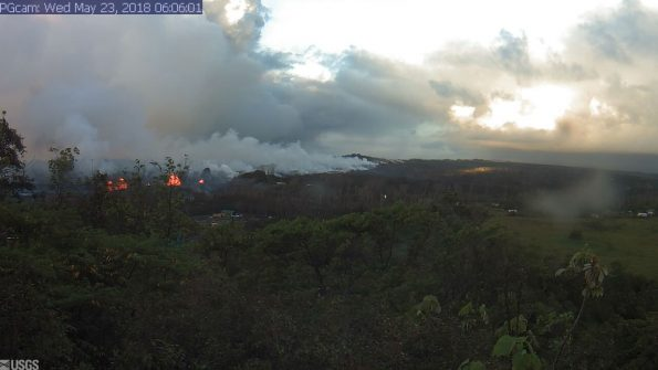 Stunning Aerial Footage Shows Overnight Eruption at Kilauea Volcano