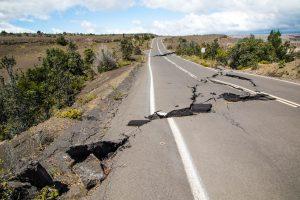 Crater Rim Drive past Keanakakoi. NPS Photo