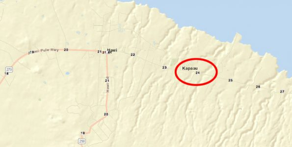 Hawaii County Police 8:04 a.m. Advisory: Akoni Pule Highway (Route 270) is closed near the 24-mile marker in North Kohala due to a landslide. State Highways is on-scene working to clear the roadway of debris.