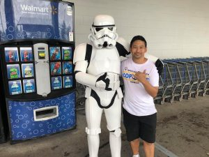 Special Guest Stormtrooper with East Hawaii athlete Darwin Nagamine