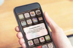 Wireless Emergency Alert System notifications appear on WEA capable cellphones.
