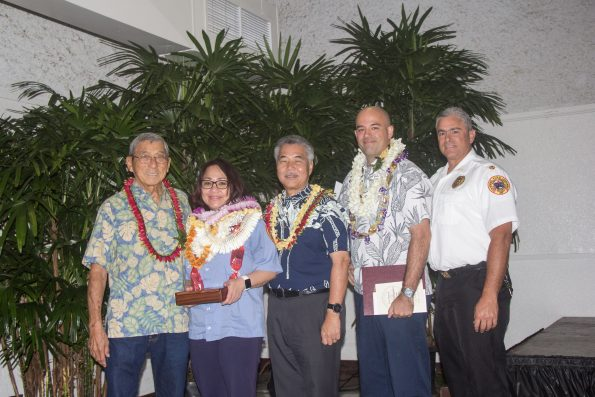 Leanne Kapahu of the Fire Department took the Supervisor of the Year award.