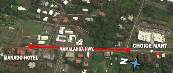 Mamalahoa Hwy (Route 11) resurfacing work in Captain Cook November 13-16, 2018