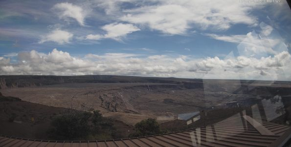 Panorama of the Kīlauea Caldera Wide Angle from HVO Observation Tower. November 7, 2018. Images courtesy of USGS/HVO