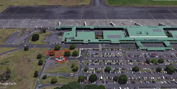 Hilo International Airport exits closed 10 p.m. to 4 a.m. February 11-15, 2019. Image courtesy HDOT