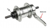 Location of brake arm on recalled SRAM i-Motion 3 hub