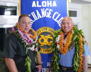 """Officer of the Year"" Daniel Tam (L) ""Firefighter of the Year"" Chas Taketa (R)"