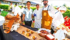 Ken Jackson with the Westin Hapuna at Taste of the Hawaiian Range.