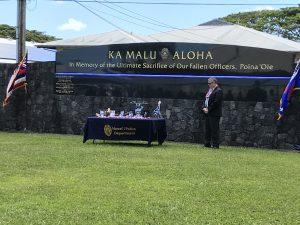 Hawaii Police Department Memorial-Wall